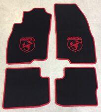Autoteppich Fußmatten für Fiat Grande Punto Abarth 199 ab 2005' rot 4tlg Velours