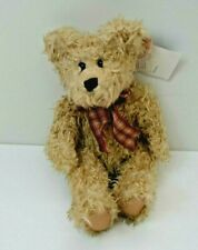 """Russ Toffee Teddy Bear 11"""" Bears from the Past Gingham Bow Paul Mitchell NEW"""