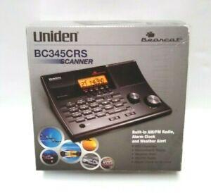 Uniden Bearcat Scanner BC345CRS 500 Channels Analog AM FM Radio Alarm Clock New