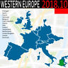 Western Europe GPS Map 2018.10 for GARMIN DEVICES