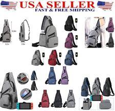 men's or women Chest Bag Shoulder Sling Pack  Crossbody Handbag