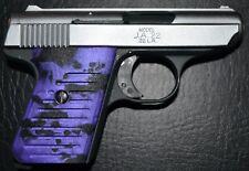Jimenez Ja22 Jennings j22 pistol grips violet and black swirl plastic