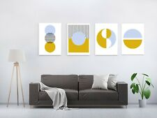 Minimalist Contemporary Abstract Circles Canvas Print Picture Wall Art Decor