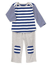 NWT Gymboree Brand New Basics Stripes and Patches Two Piece Set 3 6