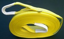 NEW HI VIS RECOVERY BOAT ROPE WINCH TOWING/TOW STRAP 20M (65 FEET) STROP 5TON