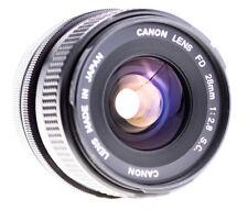 Canon FD 28 mm f 2,8 S.C. mit Gegenlichtblende SN:19051 Geprüft für AE1 / A1 /F1