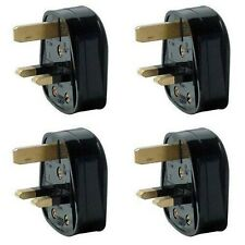 LILMACC® New Pack of 4 UK 3 Pin 13A Fused Mains Plugs - Black Mains 3 Pin Hou...