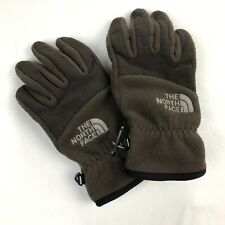 The North Face Girls Small Brown Fleece Winter Gloves
