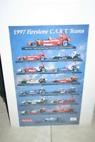 1997 CART FIRESTONE INDY CAR DRIVERS & CARS 20 X 28  COLOR POSTER VASSER MOORE