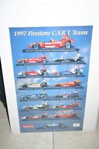 1997 CART FIRESTONE INDY CAR DRIVERS & CARS 20 X 28  COLOR POSTER VASSER MOORE