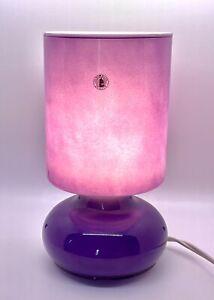 Vintage Purple Mushroom Lamp Retro Mid Century - Ikea Lykta Discontinued