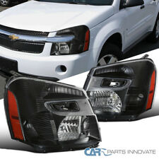 05-09 Chevy Equinox SUV Replacement Black Headlights Driving Headlamps Set Pair