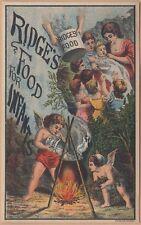 Victorian Trade Card-Ridge's Food-Woolrich & Co-Palmer MA-Cherubs Preparing Food