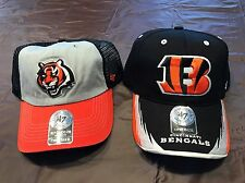 TWO Brand New Cincinnati Bengals NFL Authentic 47 brand hats, one size fits all