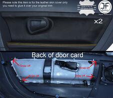 GIALLO Stitch PORTA 2x IN PELLE DECORAZIONE CARTA copre si adatta a Smart Roadster 452 03-05