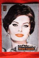 SOPHIA LOREN ON COVER 1959 VERY RARE EXYU MAGAZINE
