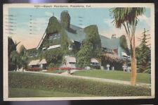 1924 POSTCARD MOVIE STAR HOME BUSCH PASADENA CA CALIFORNIA