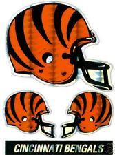 Cincinnati Bengals Tri-Sticker Historic Logo LOT NEW