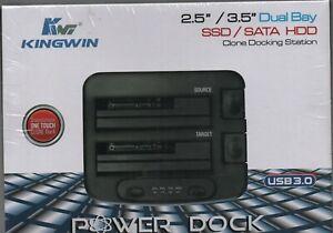 KingWin Dual Bay Clone Docking Station Power Dock USB 3.0 PD-2537U3 NEW