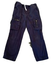 Boys Hannah Andersson Navy Cargo Pants Size 130 (size8)