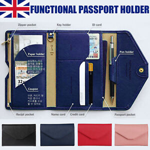 Passport Wallet Family Travel Document Holders Ticket Organizer RFID Blocking UK