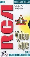 RCA T-120H Standard Grade Blank 6 hour VHS cassette tape