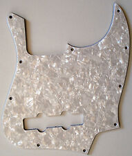 NEW PICKGUARD Jazz Bass white pearloid 3 ply pour Fender ou autre JBass