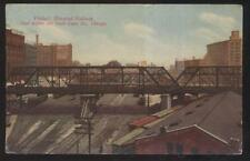 POSTCARD CHICAGO IL/ILLINOIS ELEVATED RAILROAD ADAMS/SOUTH CANAL VIADUCT 1907