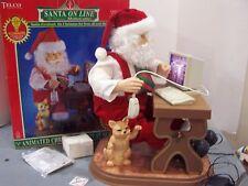 Tel 00006000 co Santa Claus Motionette Online Animated Computer vintage christmas decor