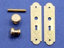 Dolls House accessories  Door Knobs & Victorian Door Plate HW23