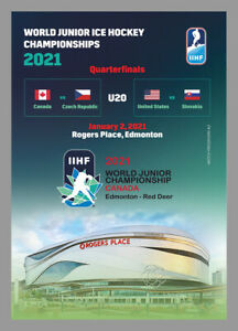 MATCHDAY PROGRAMMES IIHF ICEHOCKEY World Champ JUNIOR 2020 2021 CANADA FAN ed
