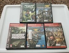 SOCOM * CALL OF DUTY * TOM CLANCY * SONY PS2 5 GAME LOT * FREE SHIPPING