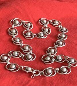 Schöne Halskette 925 Silber Handarbeit ❗️Art Deco