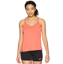 ASICS Women's Ventilated Tank Top, Coralicious Heather, Large