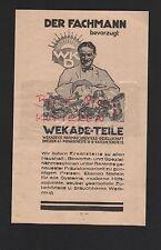 DRESDEN, Werbung 1928, Wekade Co. Nähmaschinen-Teile Gesellschaft