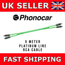 Phonocar 5m RCA Platinum Line Triple Shield High Quality Mono Amp Audio Leads