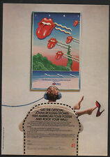 1981 THE ROLLING STONES AMERICAN TOUR - MICK JAGGER - RICHARDS JOVAN VINTAGE AD