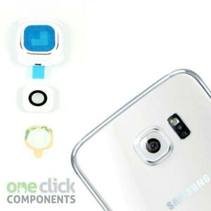 New Pearl White REAL GLASS Camera Lens Frame Cover For Samsung Galaxy S6 G920F