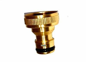 """3/4"""" Brass Hose Tap Connector Faucet Garden Water Pipe Quick Release Adaptor NEW"""