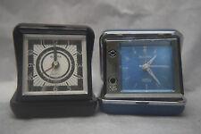 Two Boluva Travel Clocks - One runs - Both need some TLC - Used