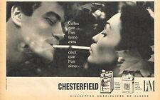 PUBLICITE ADVERTISING 025  1958  CHESTERFIELD   les cigarettes & LM