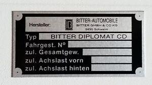Blanco Typenschild Bitter CD