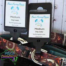 Medium Dog Collar+Lead Set Four Furry Paws Paisley Neoprene Adjustable 29-35.5cm