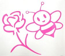 Bumble Bee Rose Flower Girly Sexy Car Truck Window Vinyl Decal Sticker 12 COLORS