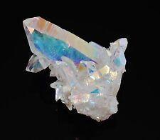 OPAL ANGEL AURA QUARTZ Crystal Cluster Rainbow Colors w/Healing Property Card