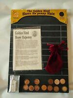 NEW VINTAGE SHOVE HA'PENNY BOARD Halfpenny Board The GOLDEN HIND BNIB Slate