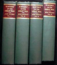 A History of the Great War John Buchan, 4 volume set HBks 20 plates, 74 maps VG+