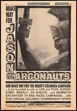 JASON and the ARGONAUTS__Original 1963 Trade AD promo / poster__RAY HARRYHAUSEN