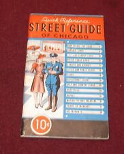 Vintage 1944 RAND McNALLY CHICAGO STREET GUIDE W/ Maps & Illustrations BOOK