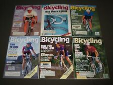 1988 BICYCLING MAGAZINE LOT OF 10 - CYCLE - GREAT COVERS & PHOTOS - PB 190K